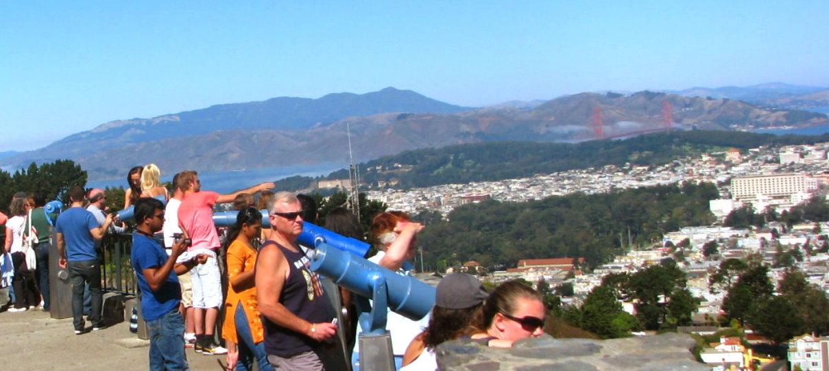 Twin Peaks lookout point SF