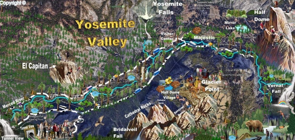 Things to Do in Yosemite Valley | Yosemite Valley Attractions ... on san diego sights, washington sights, los angeles sights,