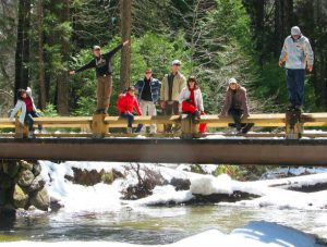 The Swinging Bridge in Yosemite
